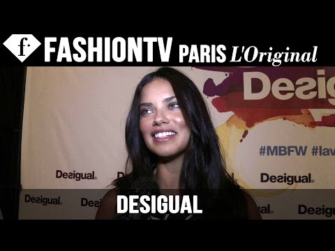 Adriana Lima at Desigual EXCLUSIVE   New York Fashion Week NYFW Spring/Summer 2015   FashionTV