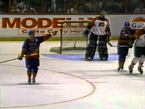 St. Louis Blues vs Philadelphia Flyers 1-11-1996 (CONTROVERSIAL ENDING)