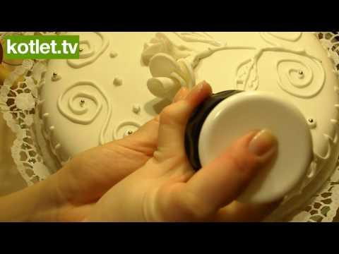 Jak zrobić biały tort ślubny - z lukrem plastycznym - www.kotlet.tv (HD)
