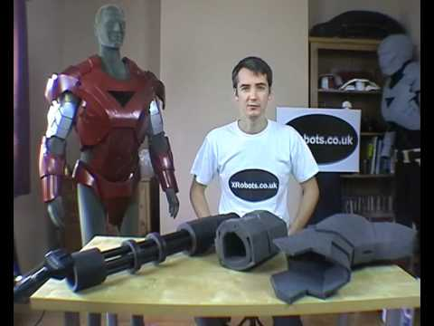 XRobots - Iron Man & War Machine pepakura cosplay suit foam build. sealing and painting process