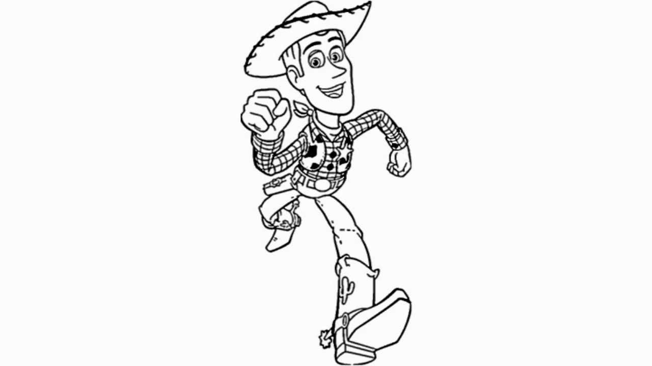 how to draw woody the cowboy from toy story video youtube
