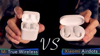 Xiaomi Mi True Wireless vs Mi Airdots - сравнение беспроводных наушников.