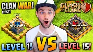 MY FIRST CLAN WAR - CAN WE WIN? - Clash Of Clans