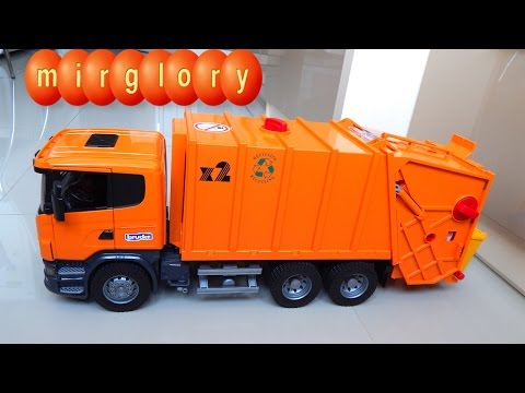 Мусоровоз Брюдер - Игрушечные машинки для детей Видео обзор игрушек для мальчиков - Машинка Bruder
