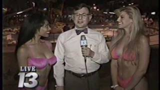Playboy Playmates of the Year help Nate with weather from Wet'N'Wild [1991]