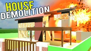 EXPENSIVE HOUSE DEMOLITION! HUGE HOUSE EXPLODES + Claw Machine Hacks! - Disassembly 3D Gameplay