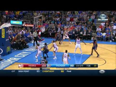 HD Atlanta Hawks vs Oklahoma City Thunder   Highlights   March 20, 2015   NBA Season 2014 15 720p