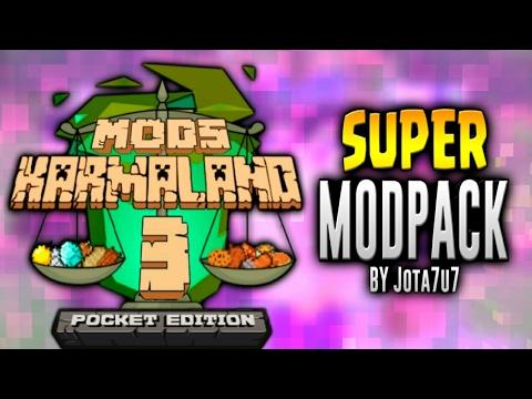 Super ModPack De #KARMALAND3 Para Minecraft pe 1.2 (10 Mods)