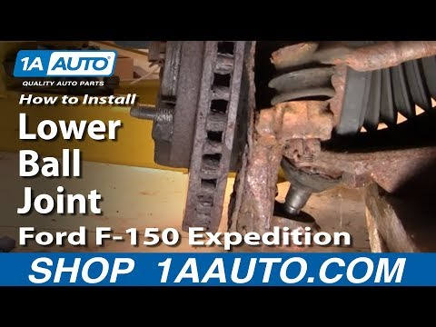 PART 1 How To Install Replace Lower Ball Joint 97-03 Ford F-150 Expedition 1AAuto.com
