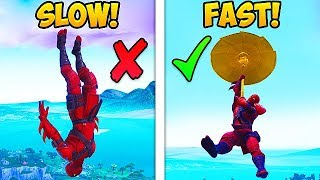 HOW TO LAND FASTER IN SEASON 8! - Fortnite Funny Fails and WTF Moments! #488
