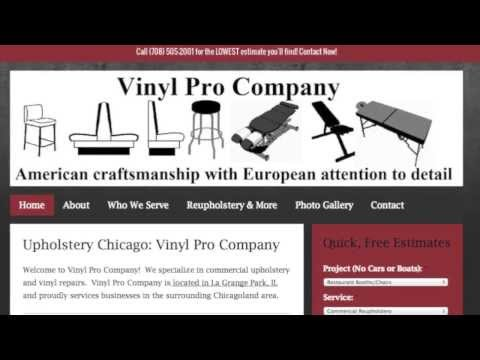 Chicago Upholstery Repair With Vinyl Pro Company of Chicago, Illinois