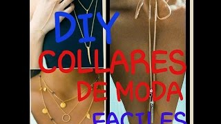 3 IDEAS DE COLLARES DE MODA FACILES