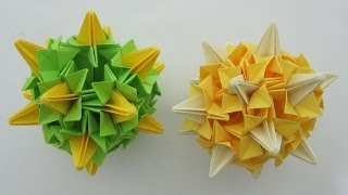 Kusudama Origami - How To Make A Handball Of Bellflowers