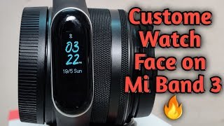 Mi Band 3 | How to Customise Mi Band 3? | Mi Band 3 me Custom Watch Face kaise install kre?