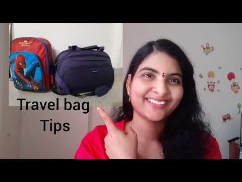 #Vlog #Diml Travel bag organising tips in telugu || Kids travel bag in telugu