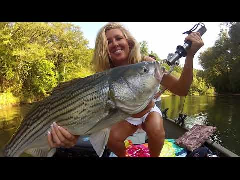 Striped Bass Fishing With a Girl on Lake Lanier / Upper Hooch