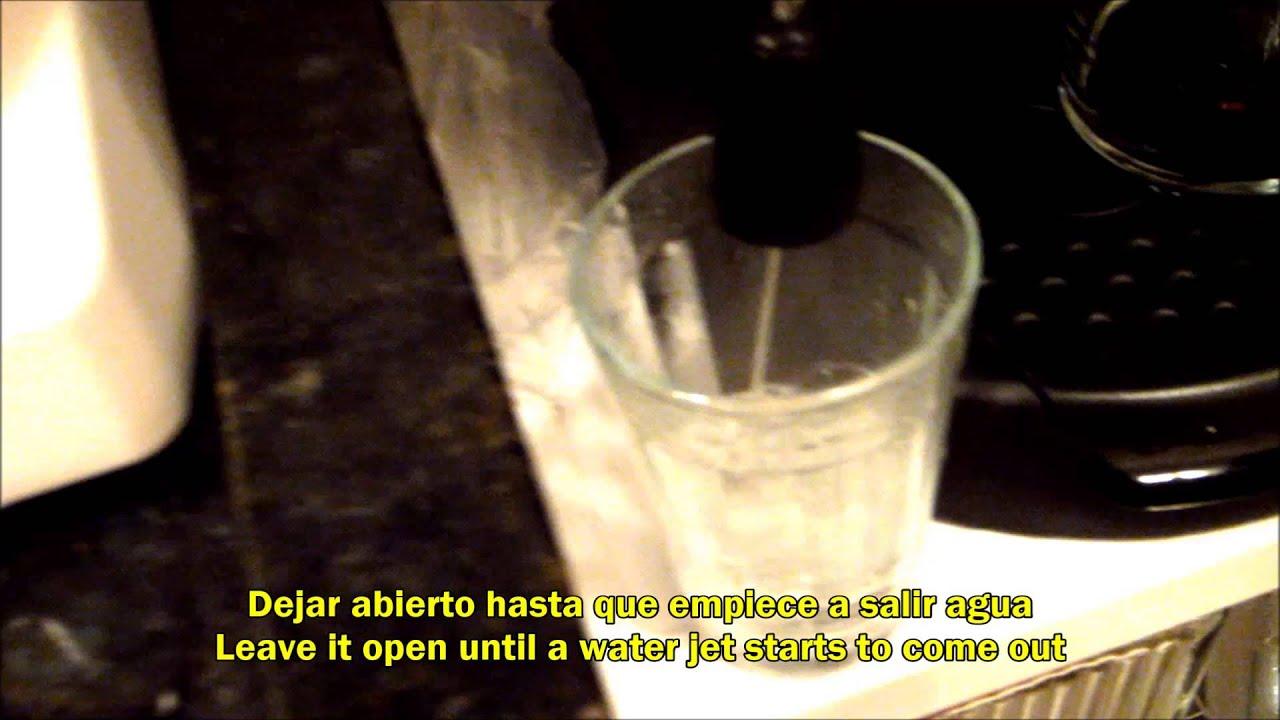 DeLonghi EC220 No sale agua de cafetera espresso / Water doesnot come out of espresso coffee ...