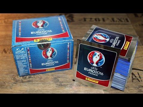 UEFA EURO2016 Sticker DISPLAY 500 Sticker Unboxing
