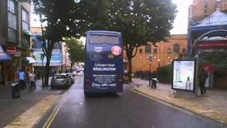 Buses and crazy pedestrian with a pram induced force field