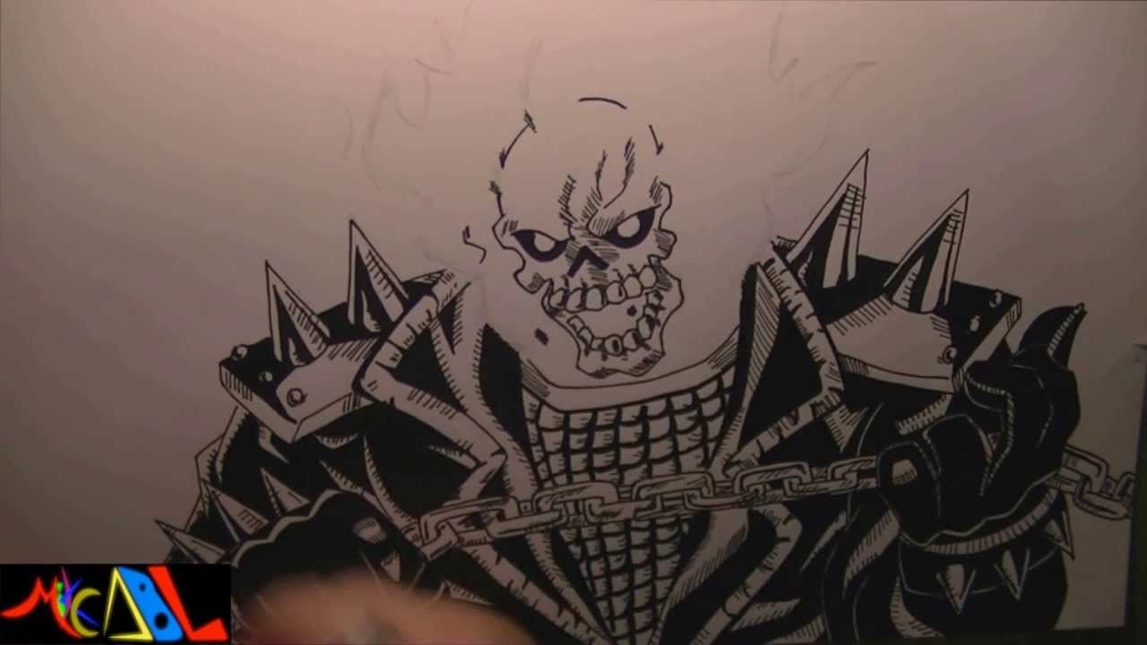 Dibujando a ghost rider youtube - Dessin de ghost rider ...