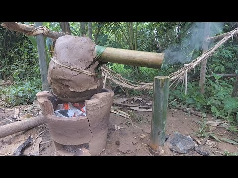 Primitive Technology: Wine Making from Banana Experiment