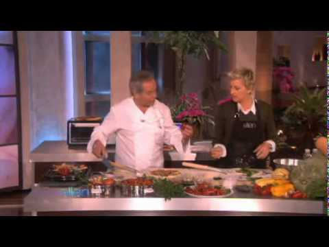 Ellen Makes Vegan Pizza with Wolfgang Puck