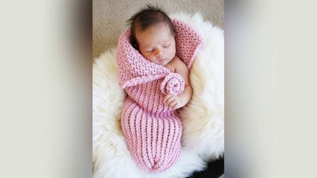 Вязание кокон для новорожденного 96