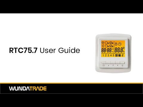 RTC75 7 Thermostat User Guide