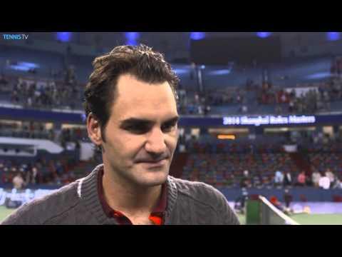 Shanghai 2014 Saturday Interview Federer