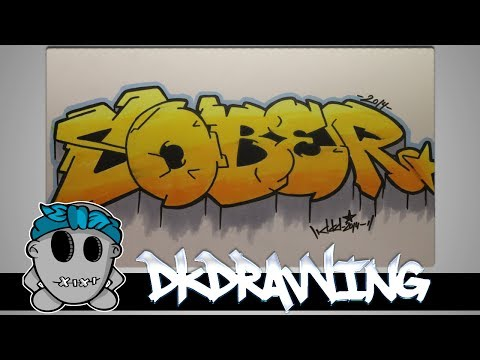 Graffiti Speed Drawing #3 - Letters Sober