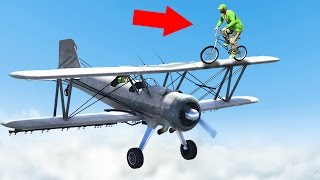 STEAL THE PLANE MID-AIR OR DIE! (GTA 5 Funny Moments)