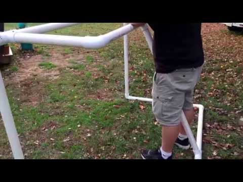 How to make a (cheap and easy) hockey goal!