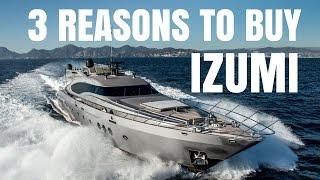 Palmer Johnson 120 super yacht for sale - 3 Reasons to Buy IZUMI