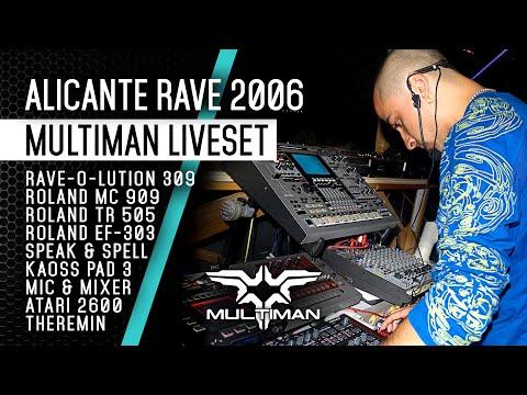 Multiman Psytrance Live 2006. Mc 909 tr 505 Kaoss Pad 3 quasimidi...