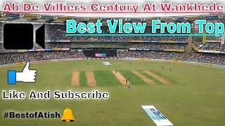 AB De Villiers Top Class Century At  Wankhede Stadium - Top View