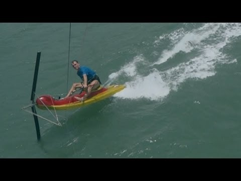 Kite Scooter - a small, fast & easy kite boat