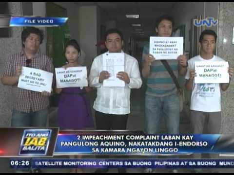 2 impeachment complaint laban kay Pres. Aquino, nakatakdang i-endorso sa Kamara ngayon linggo
