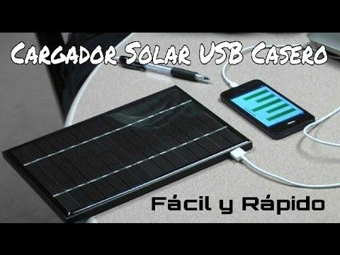 CÓMO HACER UN CARGADOR SOLAR USB. FÁCIL Y RÁPIDO.