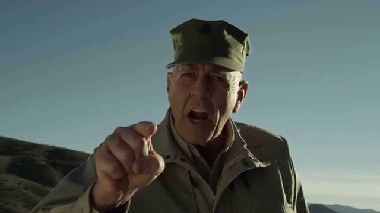 R Lee Ermey Yelling GunnyTime with R  Lee Ermey