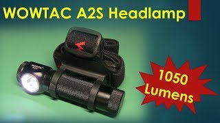 1050 Lumen WOWTAC A2S Headlamp