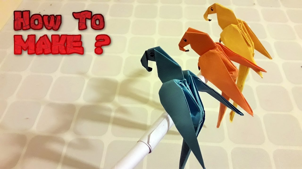Origami Macaw Parrot Step By 2223550 Origamiorigami Parrotorigami Diagram This Site Contains All Information About