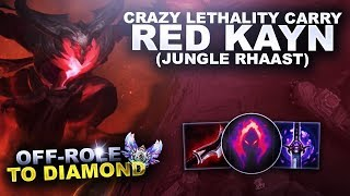CRAZY LETHALITY RED KAYN CARRY! - OffRole to Diamond | League of Legends