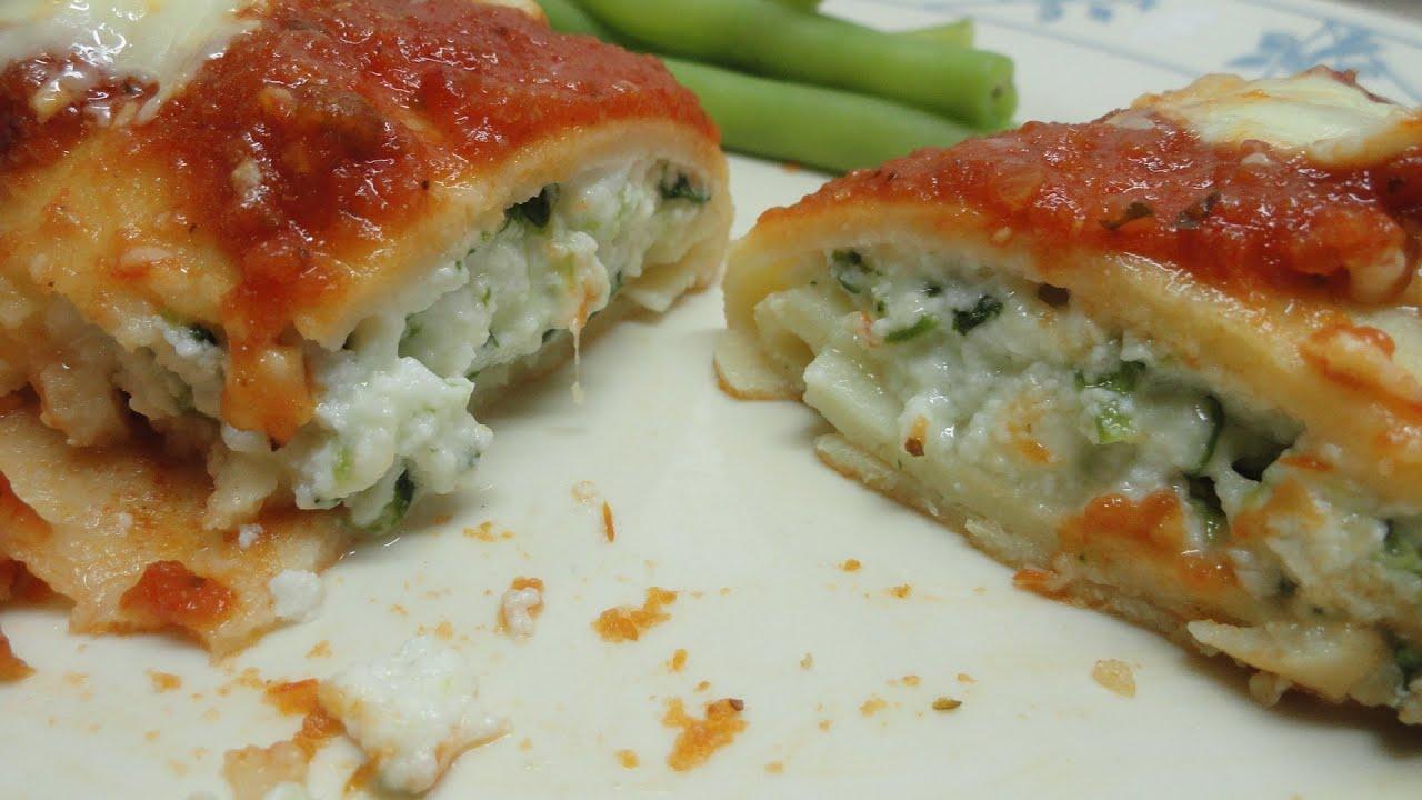 Homemade Ricotta-Spinach Manicotti - YouTube