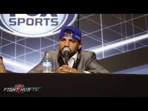 Victor Ortiz vs. Andre Berto 2 video- COMPLETE Victor Ortiz post fight press conference