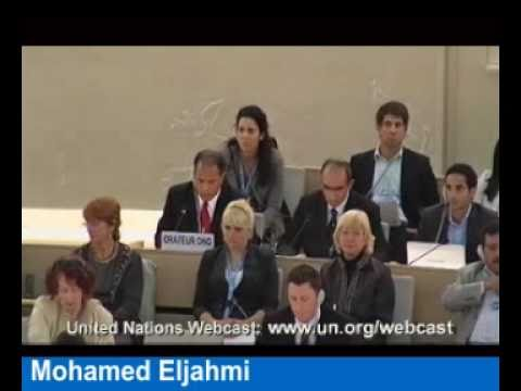 Libya's Adel Shaltut Asks U.N. Chair to Delete UN Watch Speeches, Silence Victims