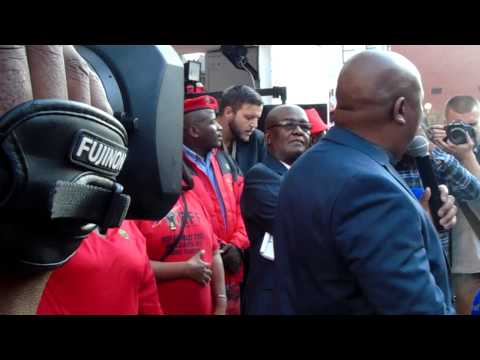 President and CIC Julius Malema  during sars case