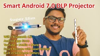 Ultimate Android 7.0 Smart DLP Projector with built in Stereo Speakers !!