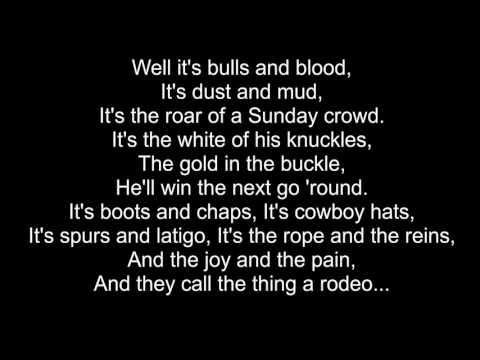 Garth Brooks - Rodeo (Cover) - Lyric Video (1991)