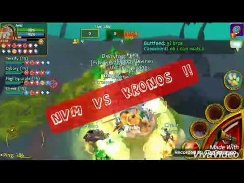 Arcane legends guild battleground Nvm vs kronos 9v9