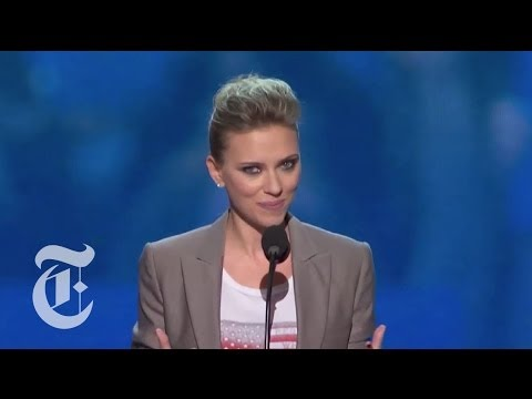 Scarlett Johansson's Full DNC Speech - Elections 2012